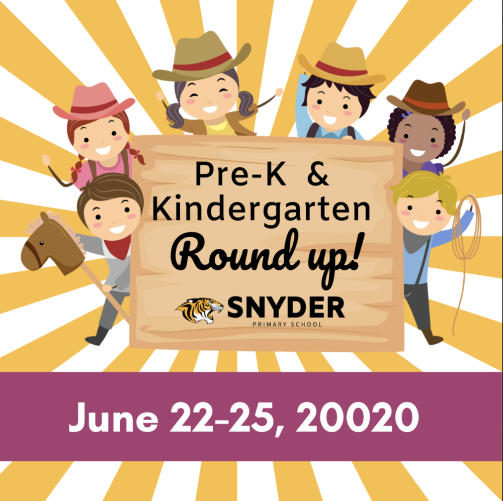 Pre- K & Kindergarten registration  have been dates set!