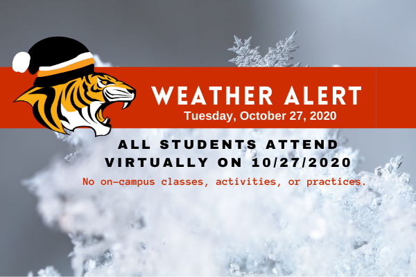 All Students To Attend Virtual Classes on 10/27/2020