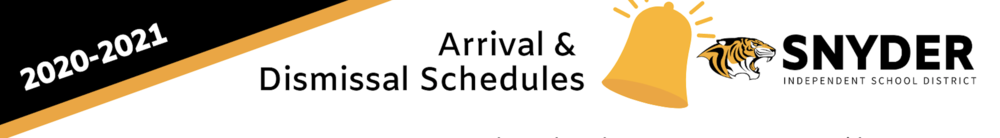 SISD Arrival & Dismissal Schedules