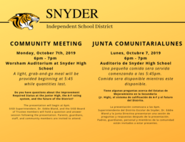 Community Meeting 10/7/19