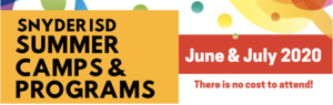 Snyder ISD Summer Camps & Programs