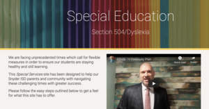 Special Education Website