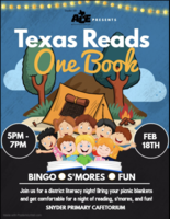 Texas Reads One Book-Sponsored By SISD ACE