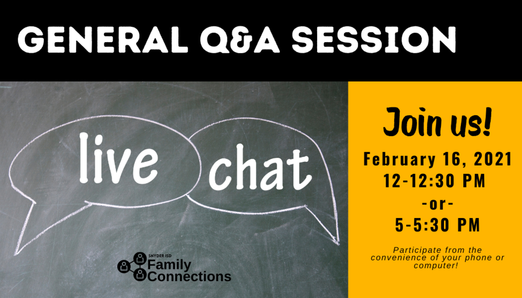 Live Q&A Chat promo image
