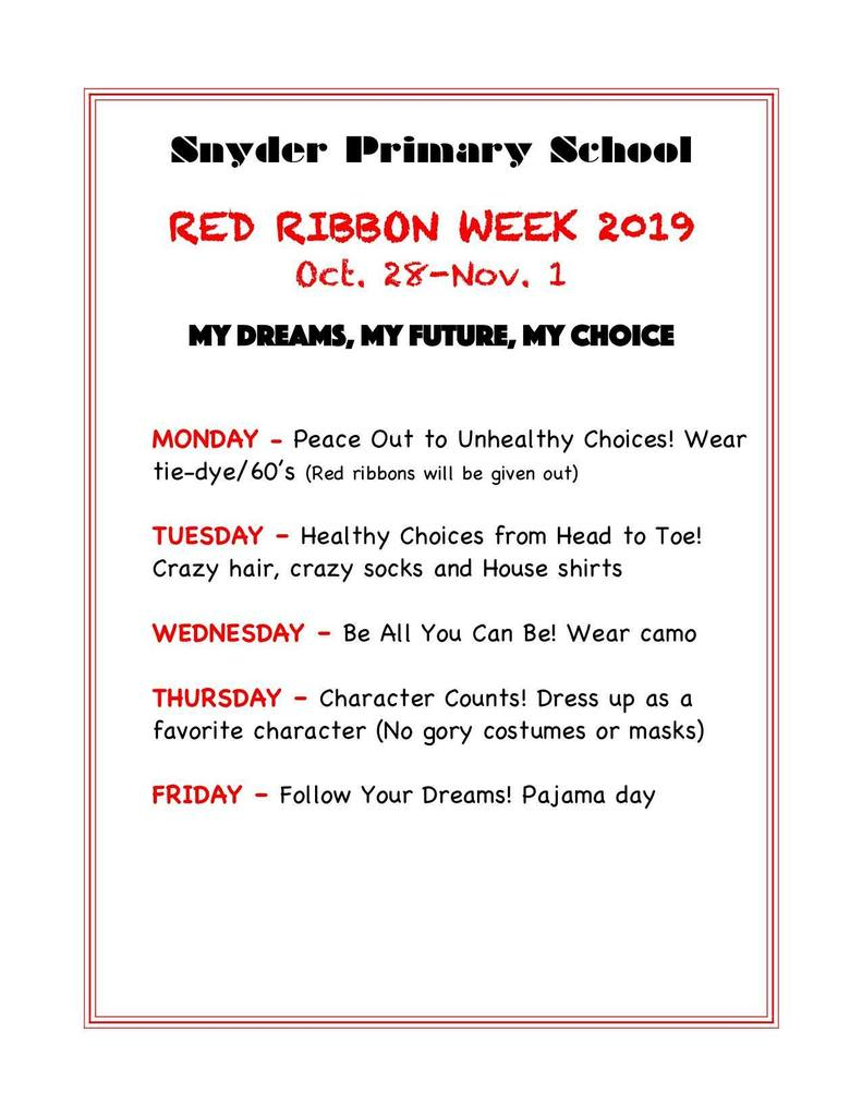 SPS Red Ribbon Week