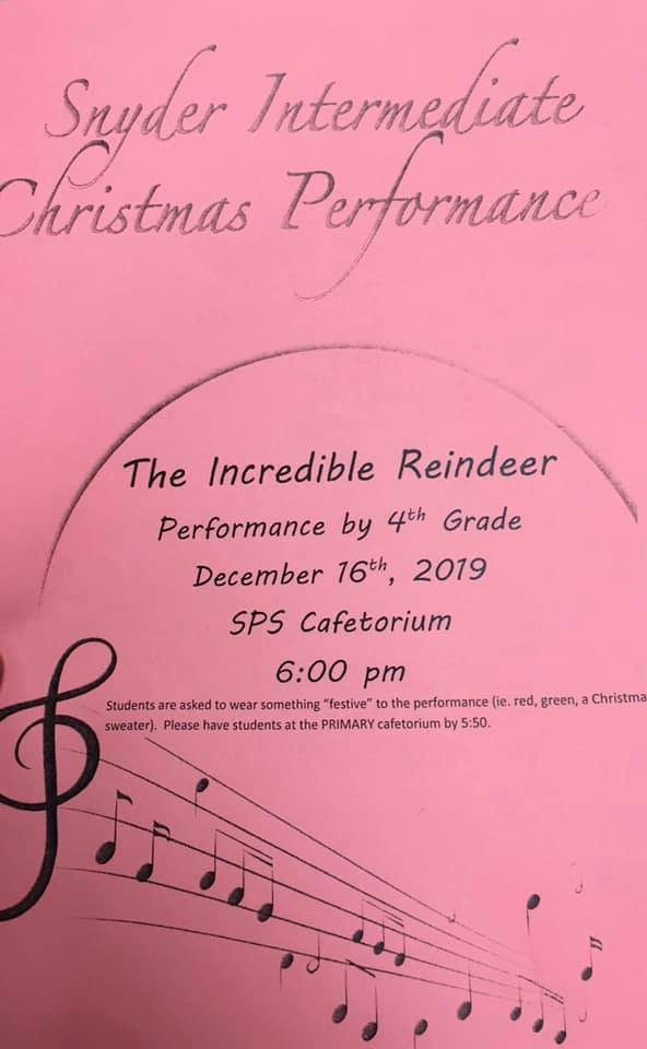 4th grade christmas performance